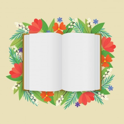 a-blank-opened-white-book-with-flowers-in-flat-style_1166-81